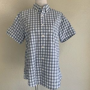 J. Crew gingham button down size Large